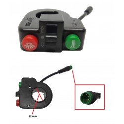 Light, turn and horn switch for el. scooters S10X